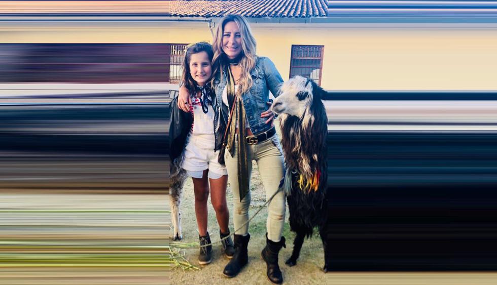 Geraldine Bazan disfruta de sus vacaciones en Perú junto a sus hijas. (Foto: @geraldinebazan)