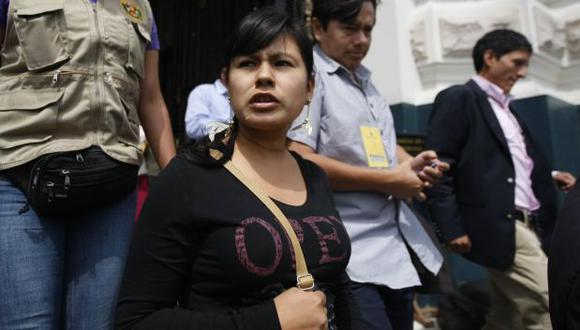 Fiorela Nolasco encabezó una marcha contra corrupción en Áncash. (USI)