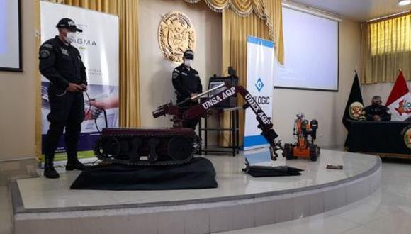 Los trabajos comenzaron en mayo del año pasado con participación activa de la UDEX. Los artefactos explosivos más comunes en Arequipa son las granadas, dinamitas y maletines (Foto: Captura de pantalla PIA Noticias)