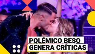 El artista del año: El beso de Fabio Agostini y Paula Manzanal fue criticado en las redes sociales