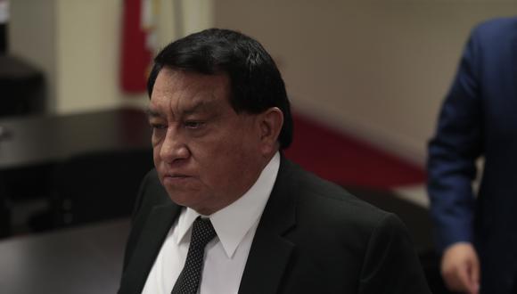 José Luna Gálvez, pudo jurar al cargo y votar para la nueva Mesa Directiva del Congreso con un permiso del Poder Judicial. (Foto: César Campos)