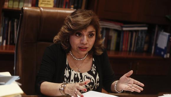 La Comisión de Justicia reiteró su citación a la fiscal de la Nación, Zoraida Ávalos, por caso Los Cuellos Blancos del Puerto. (Foto: Archivo GEC)