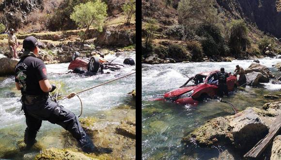 Una persona muere y otras desaparece tras despiste y caída de vehículo al río Cañete (Fernando Zavala)