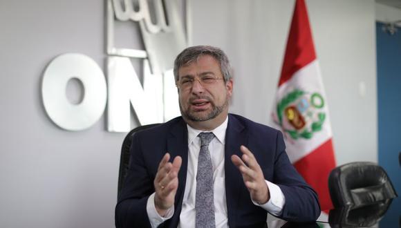 Piero Corvetto, jefe de la ONPE, dijo que consultará con el JNE la relación final de partidos incritos para la contienda electoral 2021. (Foto: Anthony Niño de Guzmán / @photogec)