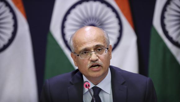 El secretario de Exteriores de la India, Vijay Keshav Gokhale, confirmó el ataque. (Foto: AP)