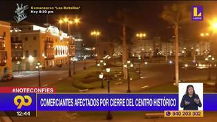 """Comerciantes exigen apertura de Plaza de Armas: """"Esto me afecta más que la pandemia"""""""