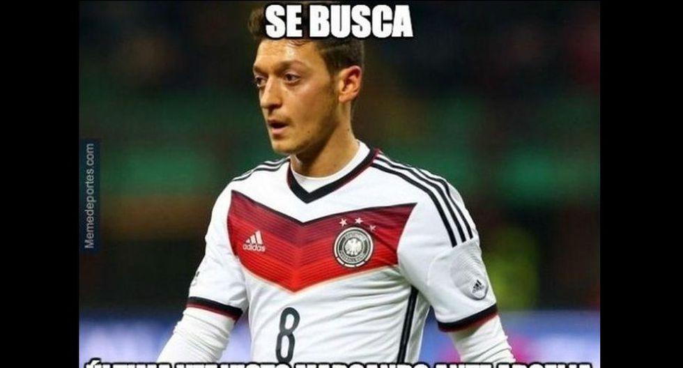Mesut Özil no tuvo una actuación destacada en el partido.