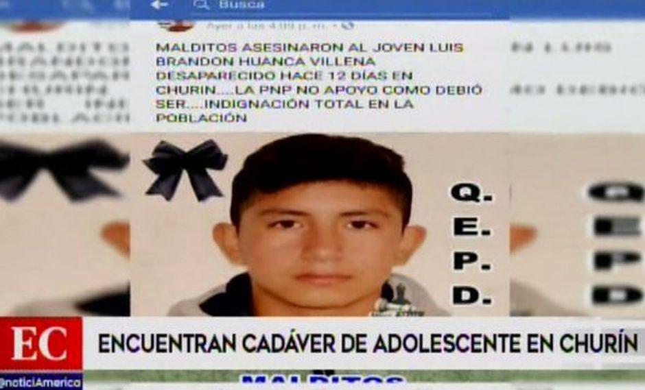 Encuentran muerto a escolar en un río. (Foto: Captura de video / América Noticias)