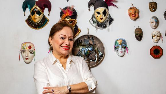 La primera actriz Haydée Cáceres y su notable adaptación a la pandemia. (Foto: Fernando Sangama).