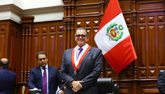 El titular del Congreso, Pedro Olaechea, saludó a los jueces en su día. (Foto: Congreso)