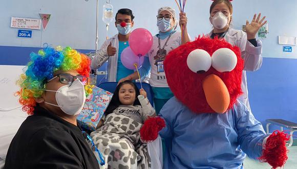 Menores se mostraron contentos y pasaron un buen momento en medio de la dificultad que atraviesan. (Foto: EsSalud)