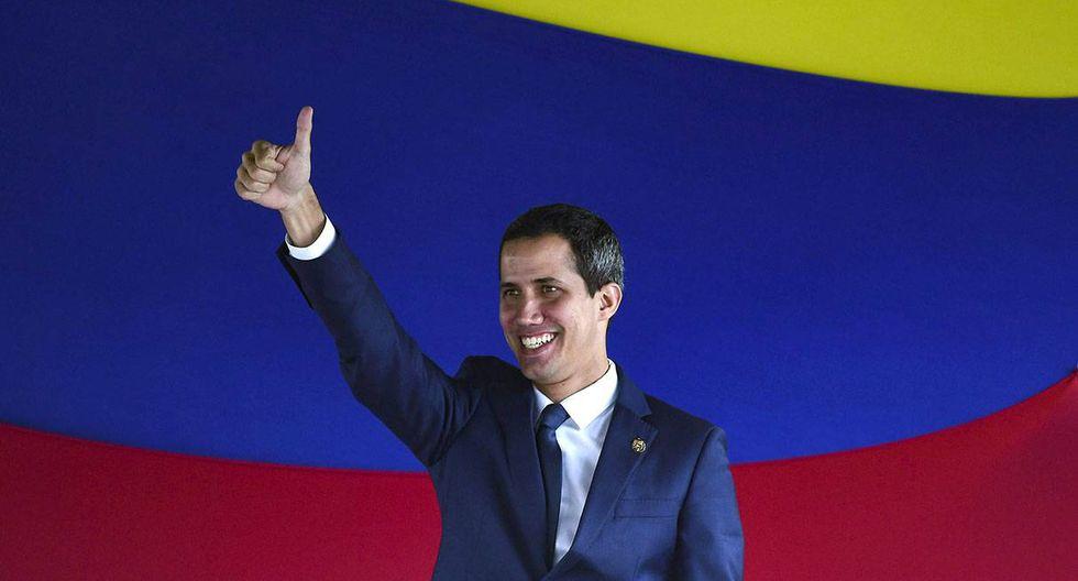 Venezuela: Juan Guaidó es reelegido como presidente del Parlamento en una sesión paralela. (Foto: AFP)