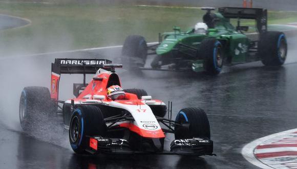 Bianchi momentos antes del accidente sufrido en Japón. (AFP)