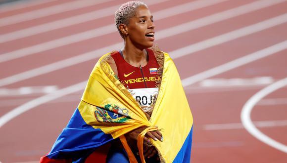Yulimar Rojas conquistó la medalla de oro en triple salto en Tokio 2020. (Foto: EFE)
