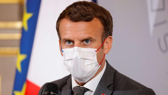 El presidente de Francia Emmanuel Macron. (Foto: PASCAL ROSSIGNOL / POOL / AFP).