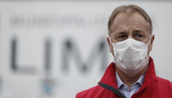 El alcalde de Lima, Jorge Muñoz, se refirió a los mensajes enviados al ministro Luis Miguel Incháustegui. (Foto: GEC)