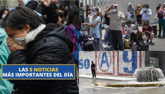 Estas son las 5 noticias más importantes del día. (Perú 21)