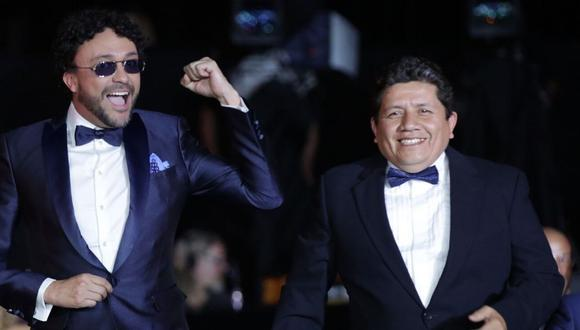 Kike se llevó a casa junto a Andrés Cepeda el galardón por mejor álbum tropical al disco por 'Big Band'. (Foto: AFP)
