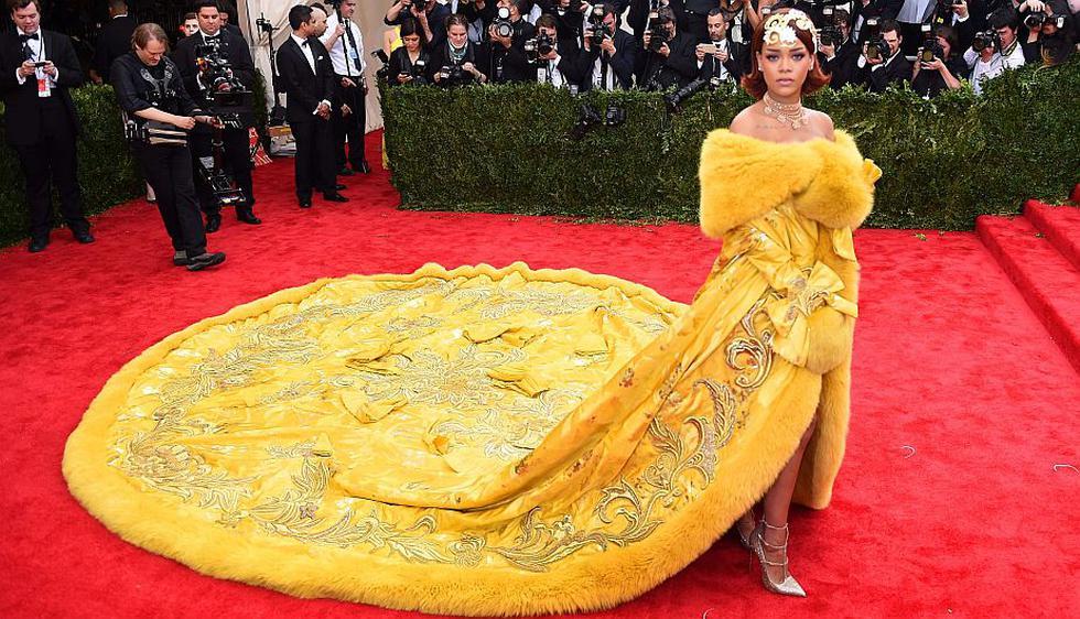 Met Gala: Rihanna fue la reina de la red carpet y de los memes. (AFP)