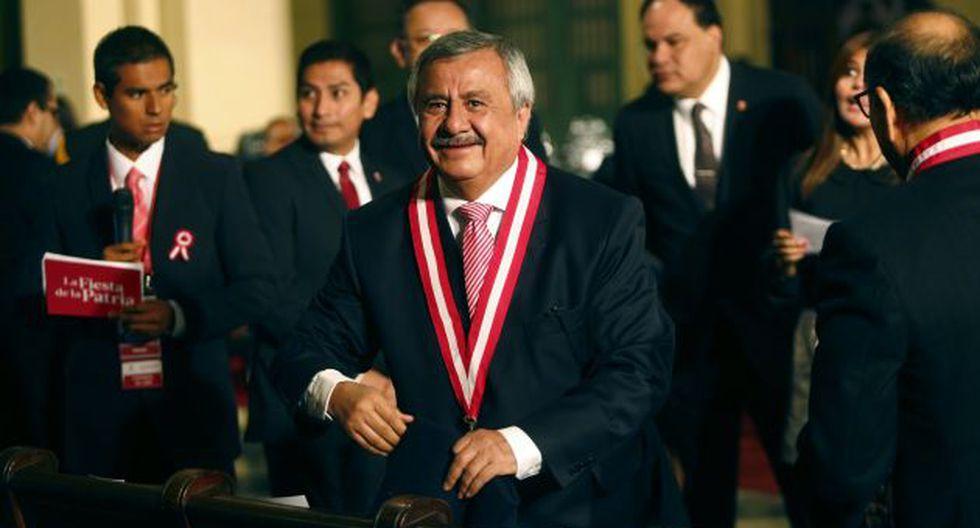 El ex presidente del Jurado Nacional de Elecciones ratifica su voto a favor de Julio Guzmán. (Perú21)