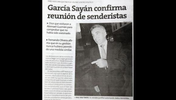 Diego García se contradice. (USI)