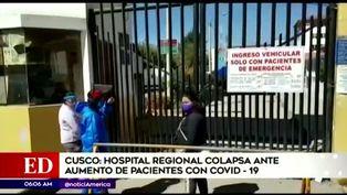 Hospital Regional de Cusco colapsa ante el aumento de casos por coronavirus