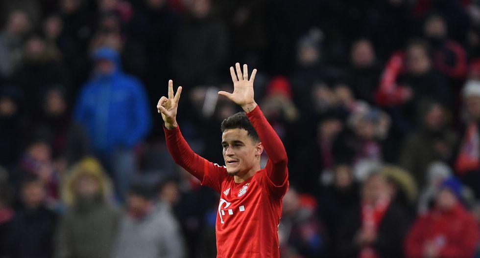 Recibido con entusiasmo en agosto y presentado como un futbolista capaz de brillar en la Bundesliga, Coutinho, de 27 años, no ha cumplido las expectativas. (Foto: AFP)