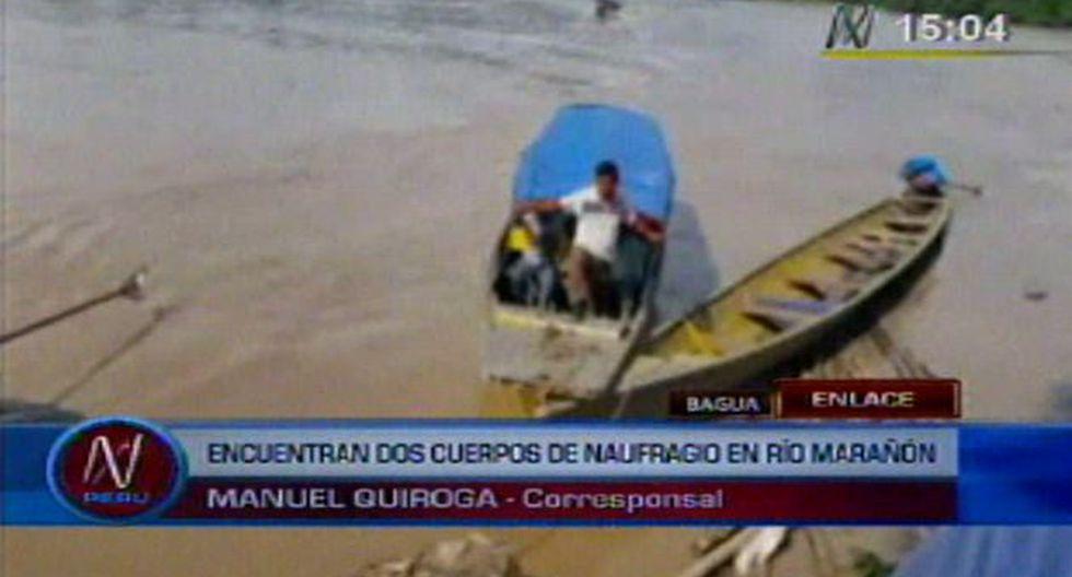 Personal de la Policía Nacional busca a desaparecidos en el río Marañón. (Canal N)