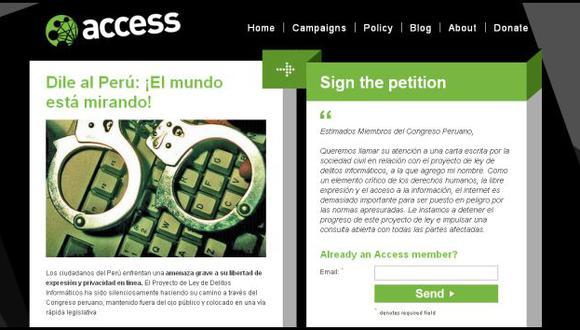 Captura: accessnow.org
