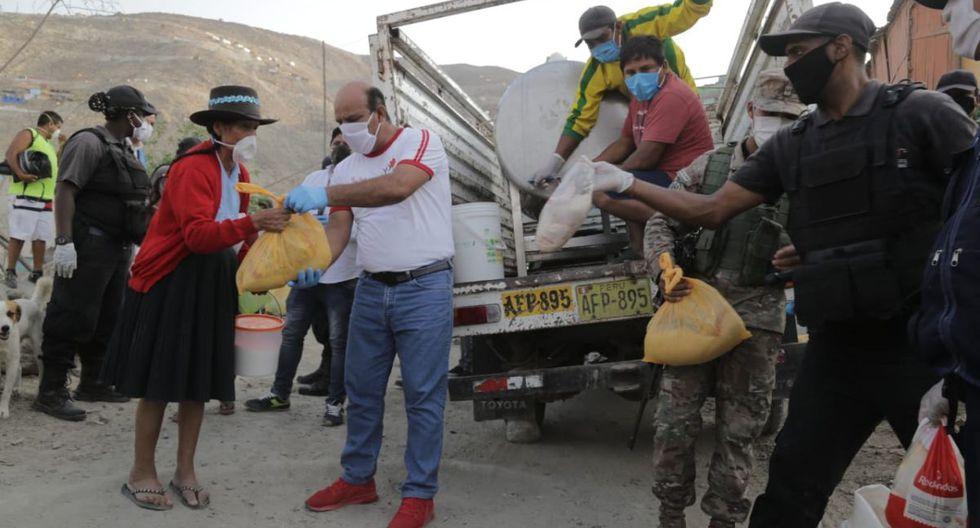 La Municipalidad de Pachacámac entrega víveres a las familias en situación de vulnerabilidad. (Difusión)