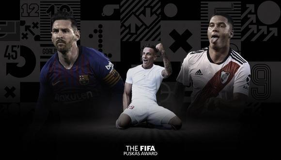 Lionel Messi y Juan Fernando Quintero compiten al Puskas como mejor gol de la temporada para la FIFA. (Foto: FIfa.com)
