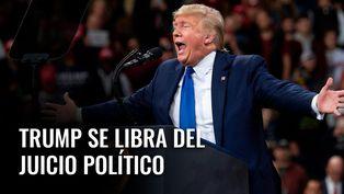 Donald Trump se libra del juicio político