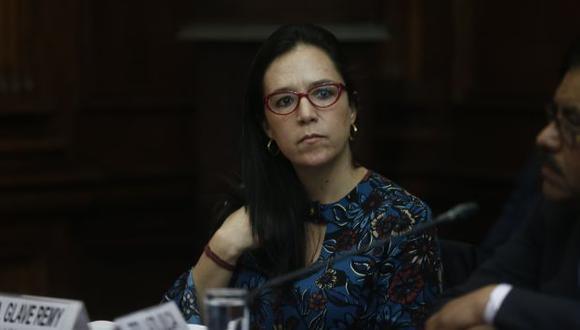 La legisladora Marisa Glave participó de la sesión de la Comisión Permanente, pero no pudo votar. (Perú21)