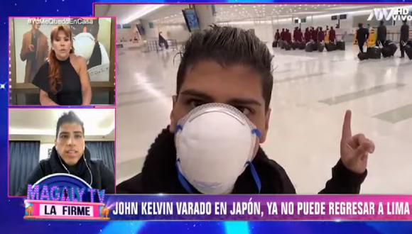 John Kelvin conversó con Magaly Medina desde Japón. (Foto: Captura ATV)