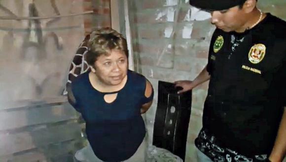 la cabecilla. Rosario Uriol era quien ordenaba a sus cómplices, vía telefónica, perpetrar el asalto. (PNP)