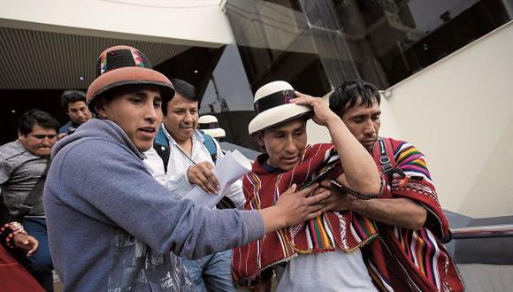 Gregorio Rojas, dirigente de la comunidad de Fuerabamba, enfrentará su juicio en libertad con restricciones. (Perú21)
