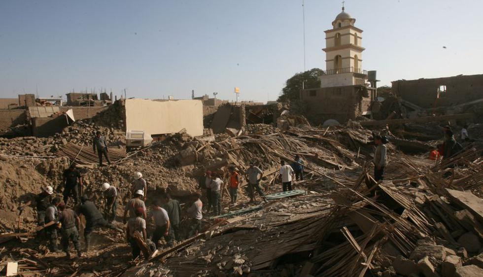 El epicentro del terremoto de 7.9 grados en la escala de Richter que golpeó los departamentos de Ica. (Perú21)