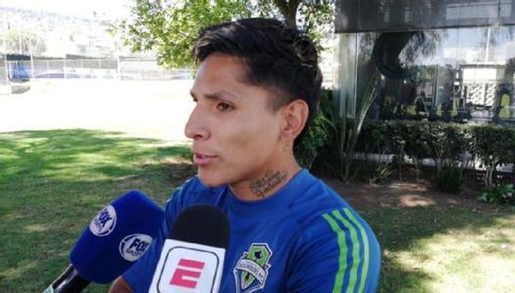 Ruidíaz atendiendo a la prensa mexicana. (Foto: ESPN)
