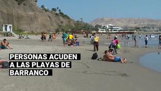 Barranco: personas aprovechan la jornada de elecciones para asistir a la playa 'Los Yuyos'