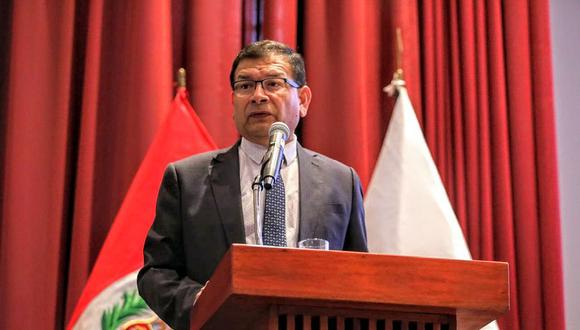 El ministro de Agricultura y Riego, Jorge Montenegro, resaltó la propuesta del titular del Interior a favor de la seguridad ciudadana. (Foto: GEC)
