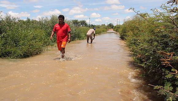 Crecida del río La Leche afectó zonas arqueológicas y áreas de cultivo. (Fabiola Valle)