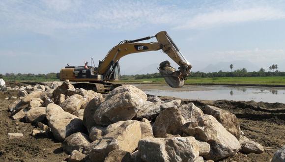 Se utilizaron rocas con características distintas a las que se había previsto para los trabajos.