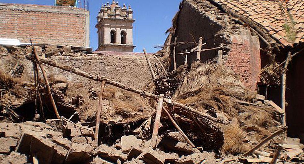 Los inmuebles, de más de 200 años de antigüedad, formaban parte del atractivo turístico de Lampa. (Andina)