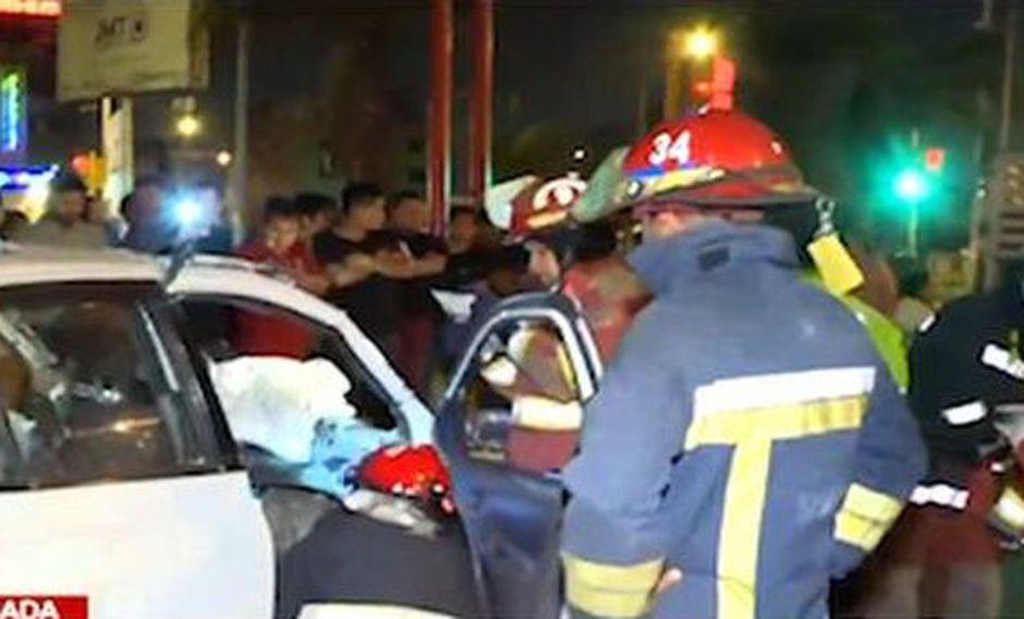 El accidente se produjo en la madrugada. (Foto: Captura/Latina)