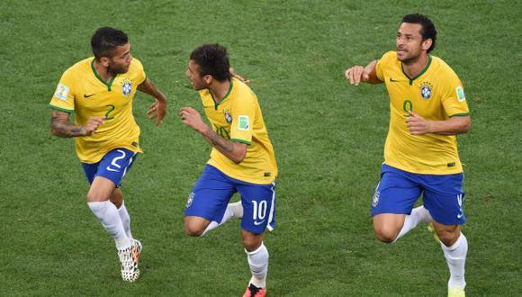 Neymar marcó el gol con el que Brasil empata 1-1 con Croacia. (AFP)