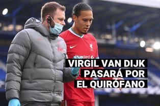 Liverpool: Virgil Van Dijk deberá ser operado de la rodilla por dura lesión en el partido contra el Everton