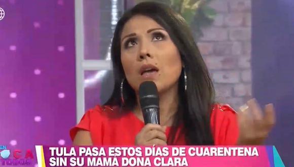 Tula Rodríguez asegura que atenderá a Javier Carmona mientras dure la crisis del coronavirus. (Foto: Captura)