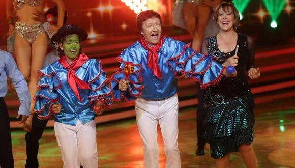 'Francesca Maldidni' y 'Peter' sorprendieron con baile en 'Reyes del show'. (Anthony Niño de Guzmán)