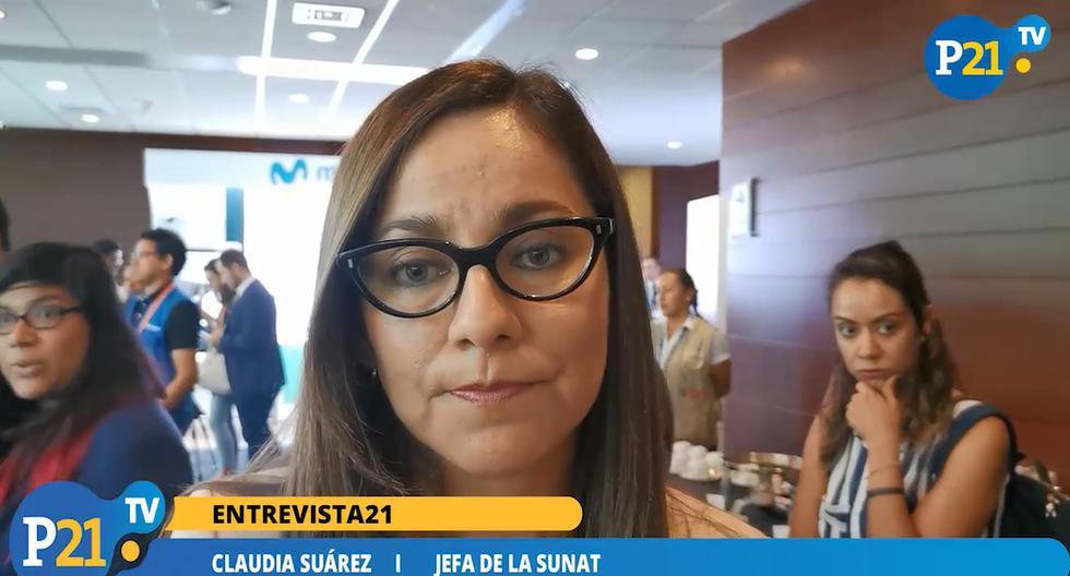 Claudia Suárez, jefa de la Sunat