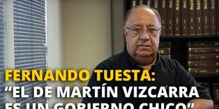 """Fernando Tuesta: """"El de Martín Vizcarra es un gobierno chico"""" [VIDEO]"""